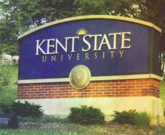 Kent State University Sign