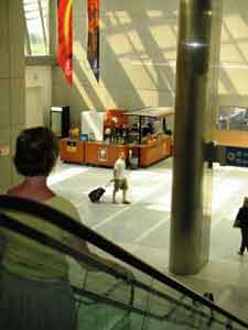 Cleveland-Akron-Canton Airport - View from escalator