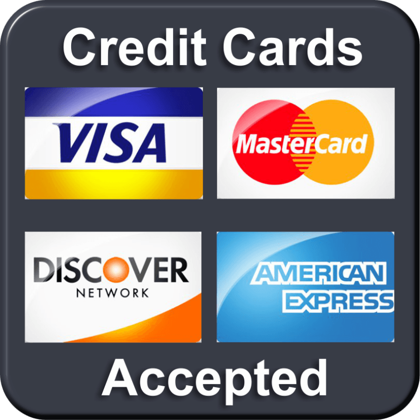 Credit or Debit card accepted Opens in new window